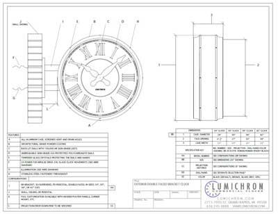 PDF print of a LUMICHRON clock